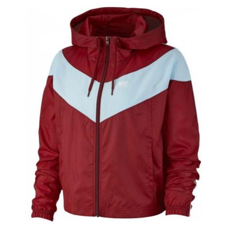 Nike NSW HRTG JKT WNDBRKR červená - Dámská bunda