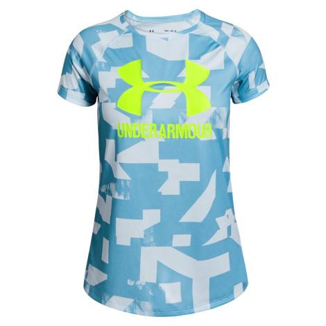 Dětské tričko Under Armour Big Logo Modrá / Žlutá