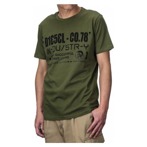 Diesel Diesel pánské zelené tričko T-NUCK