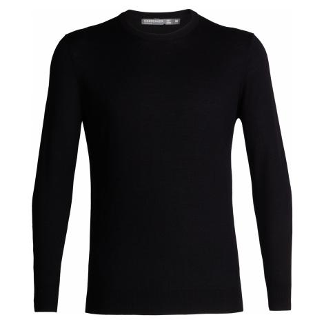 Pánský svetr ICEBREAKER Mens Shearer Crewe Sweater, Black Icebreaker Merino