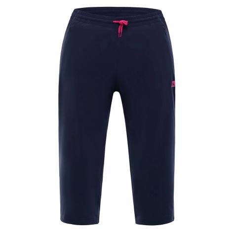 Dámské capri kalhoty Alpine Pro VAL DI ZOLDO - tmavě modrá