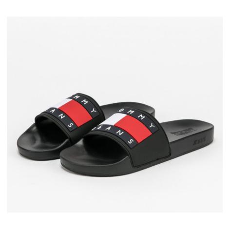 Tommy Hilfiger Tommy Jeans pánské černé pantofle