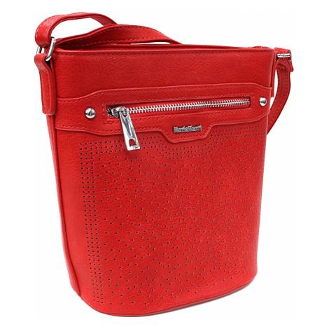 Ostře červená menší crossbody dámská kabelka Fernne Mahel