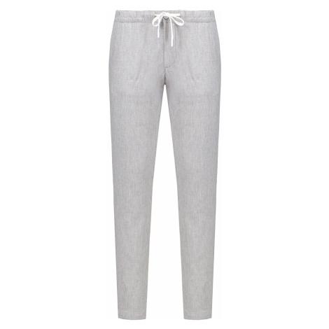 Kalhoty Alberto HOUSE-SMART LINEN šedá