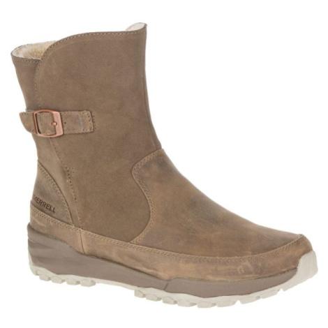 Merrell ICEPACK GUIDE BUCKLE PLR WP béžová - Dámské zimní boty