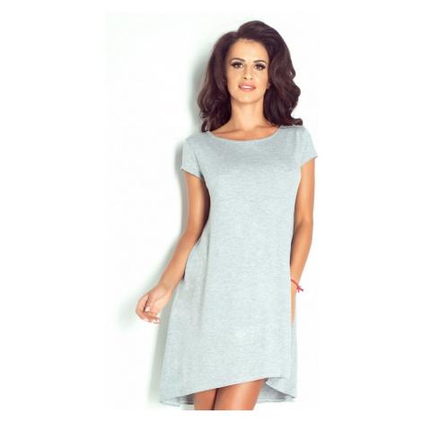 Dámské univerzální šaty asymetrického střihu v šedé barvě 195 IVON