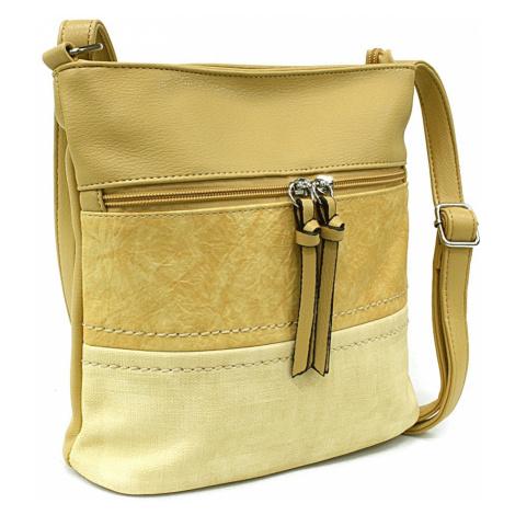 Žlutá moderní dámská crossbody kabelka Licia Tapple