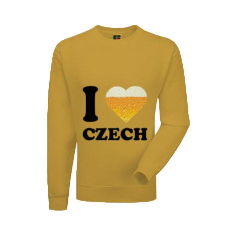 Pánská mikina bez kapuce I love czech beer