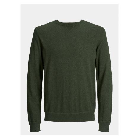 Khaki svetr s příměsí kašmíru Jack & Jones