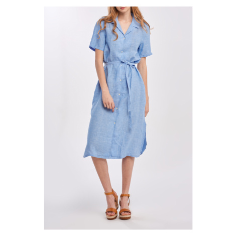 ŠATY GANT D2. LINEN CHAMBRAY SS SHIRT DRESS