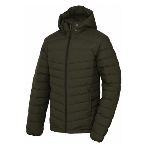 Pánská péřová bunda HUSKY Donnie M tmavá khaki