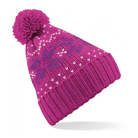Zimní čepice Snowstar - růžová Beechfield