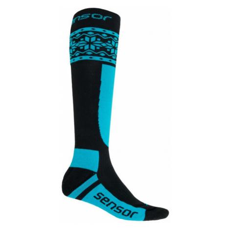 Ponožky SENSOR Thermosnow Norway černá/modrá