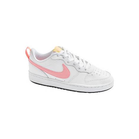Bílo-růžové tenisky Nike Court Borough Low