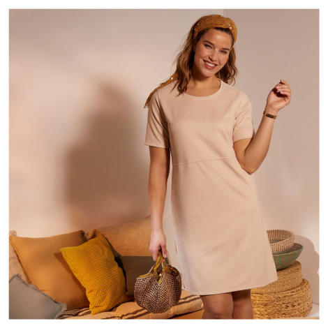 Blancheporte Krátké šaty hebké na dotek režná