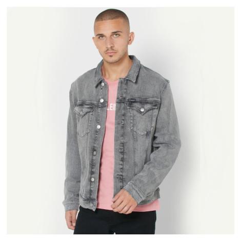 Calvin Klein pánská šedá džínová bunda