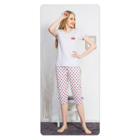 Dámské pyžamo kapri Spring, XXL, světle šedá Vienetta Secret