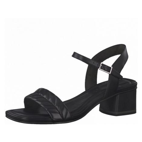 TAMARIS Páskové sandály černá