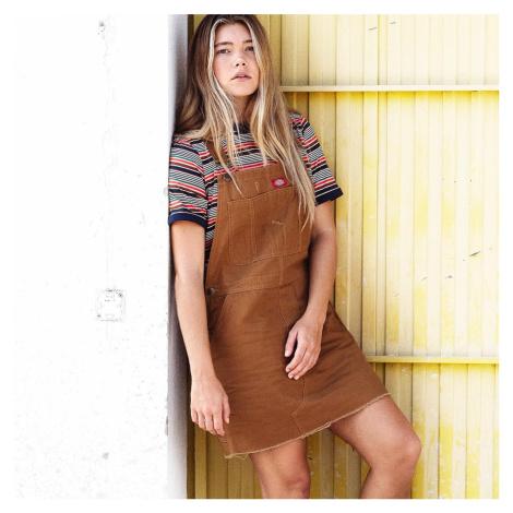 Horčicové šaty s laclem Hopewell Dickies