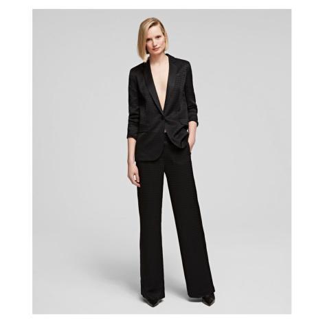 Kalhoty Karl Lagerfeld Pants W/ Karl Head Jacquard - Černá