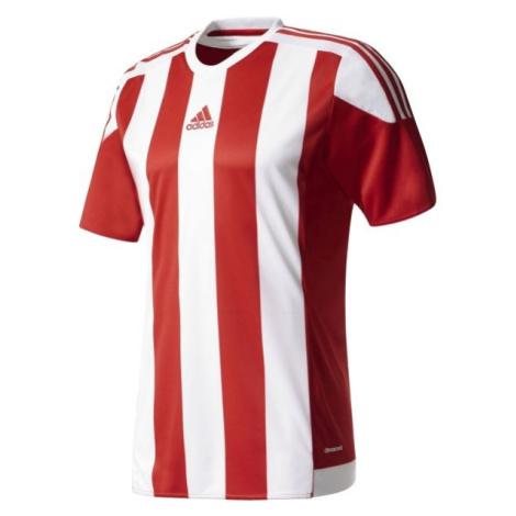 adidas STRIPED 15 JSY JR červená - Chlapecký fotbalový dres