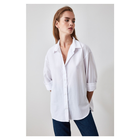 Trendyol White Loose Fit Shirt