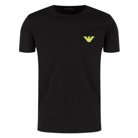 Pánské triko Emporio Armani 110853 0P525 černá zelená | černá