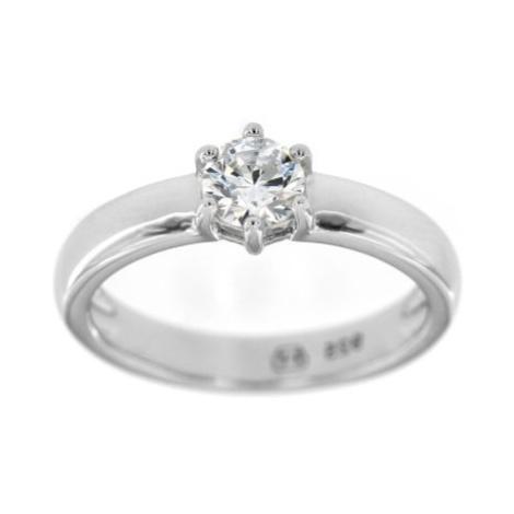 Stříbrný dámský zásnubní prsten 4871