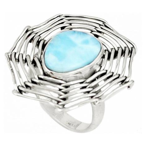 AutorskeSperky.com - Stříbrný prsten s larimarem - S3205