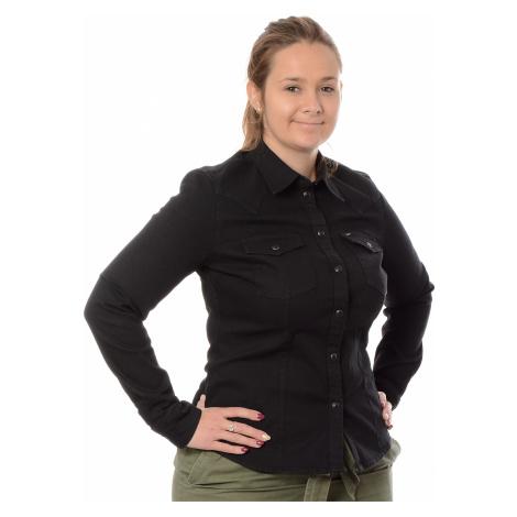 Džínová košile Lee Slim Western dámská černá