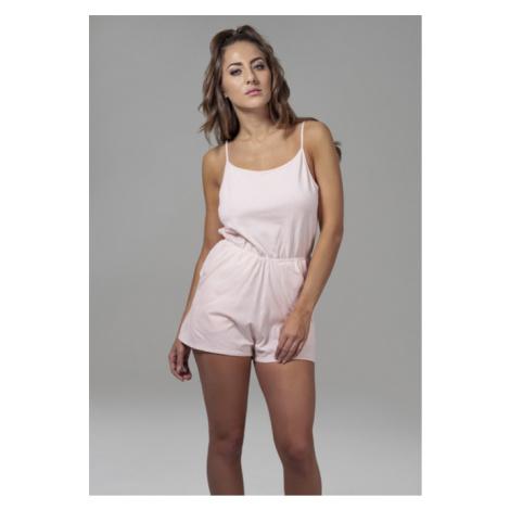 Urban Classics Ladies Short Spaghetti Jumpsuit pink