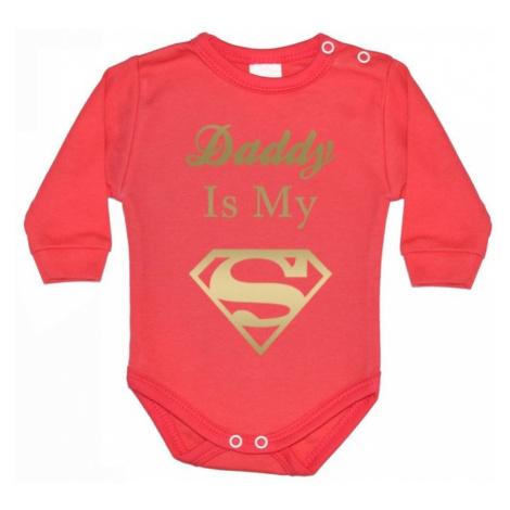 Dětské body s potiskem Daddy is my Superhero BezvaTriko