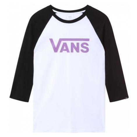 Vans MN VANS CLASSIC RAGLAN bílá - Pánské tričko s 3/4 rukávem