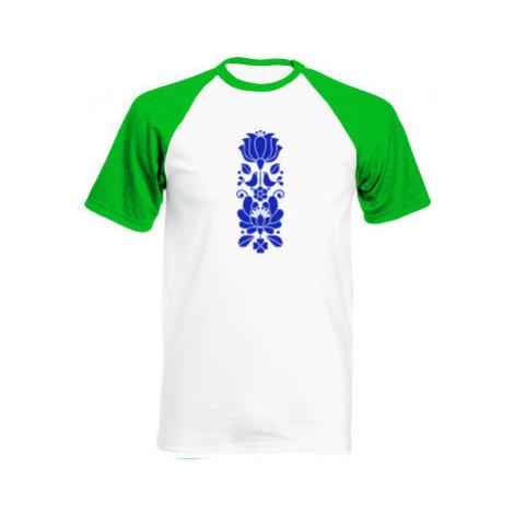 Pánské tričko Baseball Folklorní motiv cibuláku