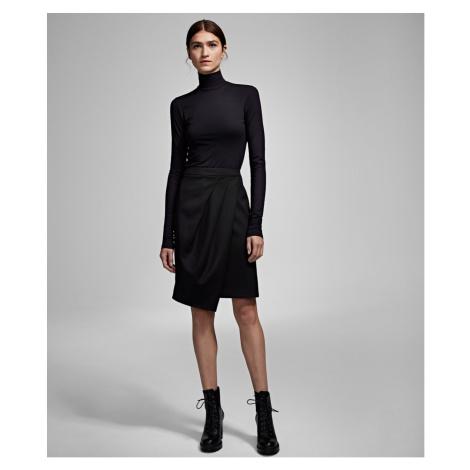 Sukně Karl Lagerfeld Karl X Carine Wool Tulip Skirt - Černá