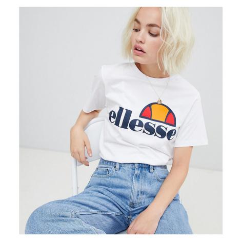 Ellesse boyfriend t-shirt with chest logo-White