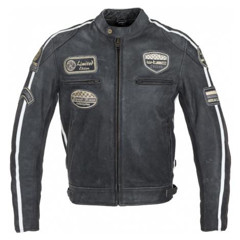 Pánská Kožená Moto Bunda W-Tec Dark Vintage Tmavě Šedá