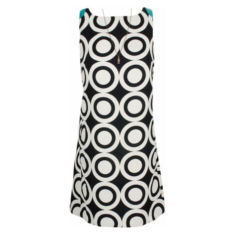 Desigual modročerné šaty s puntíky