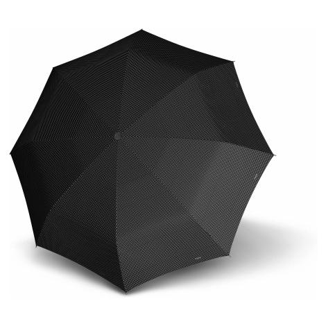 Černý skládací plně automatický dámský nezničitelný deštník Rambien Doppler