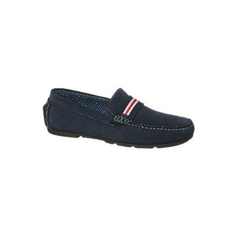Tmavě modré kožené mokasíny AM Shoe