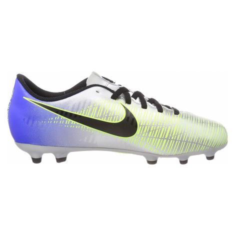 Dětské kopačky Nike Mercurial Vortex III Neymar FG Stříbrná / Modrá