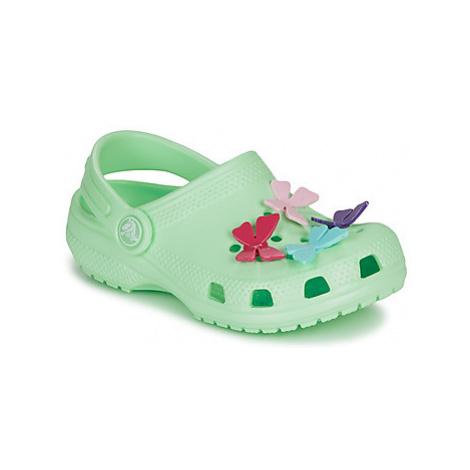 Crocs CLASSIC BUTTERFLY CHARM CLG PS Zelená