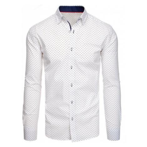 Dstreet Bílá košile se vzorem