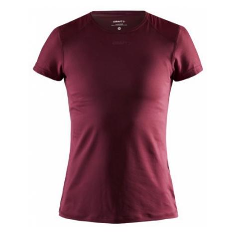 Dámské tričko CRAFT ADV Essence Slim SS tmavě červená