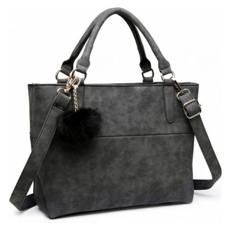 Černá kvalitní dámská kabelka s ozdobou Lusiel Lulu Bags