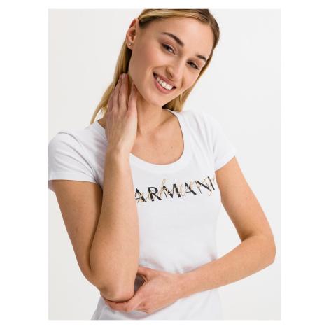 Triko Armani Exchange Bílá