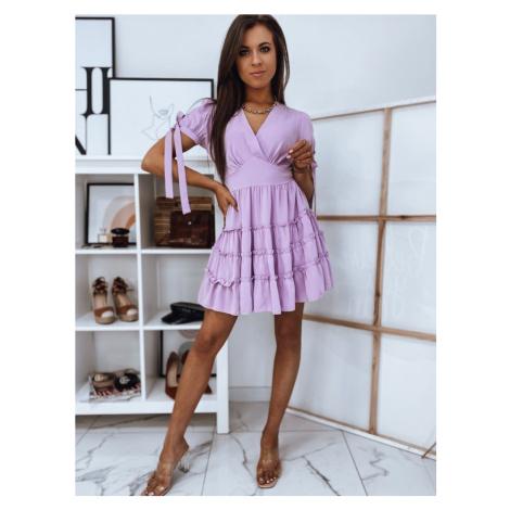Dstreet Moderní fialové šaty Arriva
