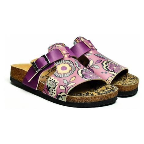 Calceo fialové pantofle Casual Slippers Purple