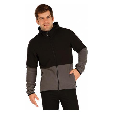 LITEX Fleecová mikina pánská s kapucí 7A294901 černá