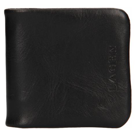Pánská kožená peněženka/mincovník Lagen Ivo - černá